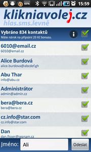 Mobilní aplikace kliknavolej.cz pro Android